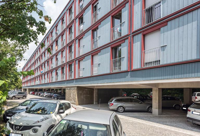 Günstiger Wohnraum: das Wohnprojekt am Dantebad in München